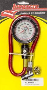 LONGACRE 2-1/2 in Diameter Analog 0-100 psi Deluxe Tire Pressure Gauge P/N 52053