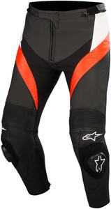 Alpinestars Adult Motorcycle Leather Missile Pants Black/White/Red 52