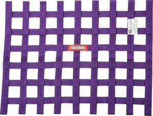 RACEQUIP 18 x 24 in Rectangle Purple Window Net P/N 725055