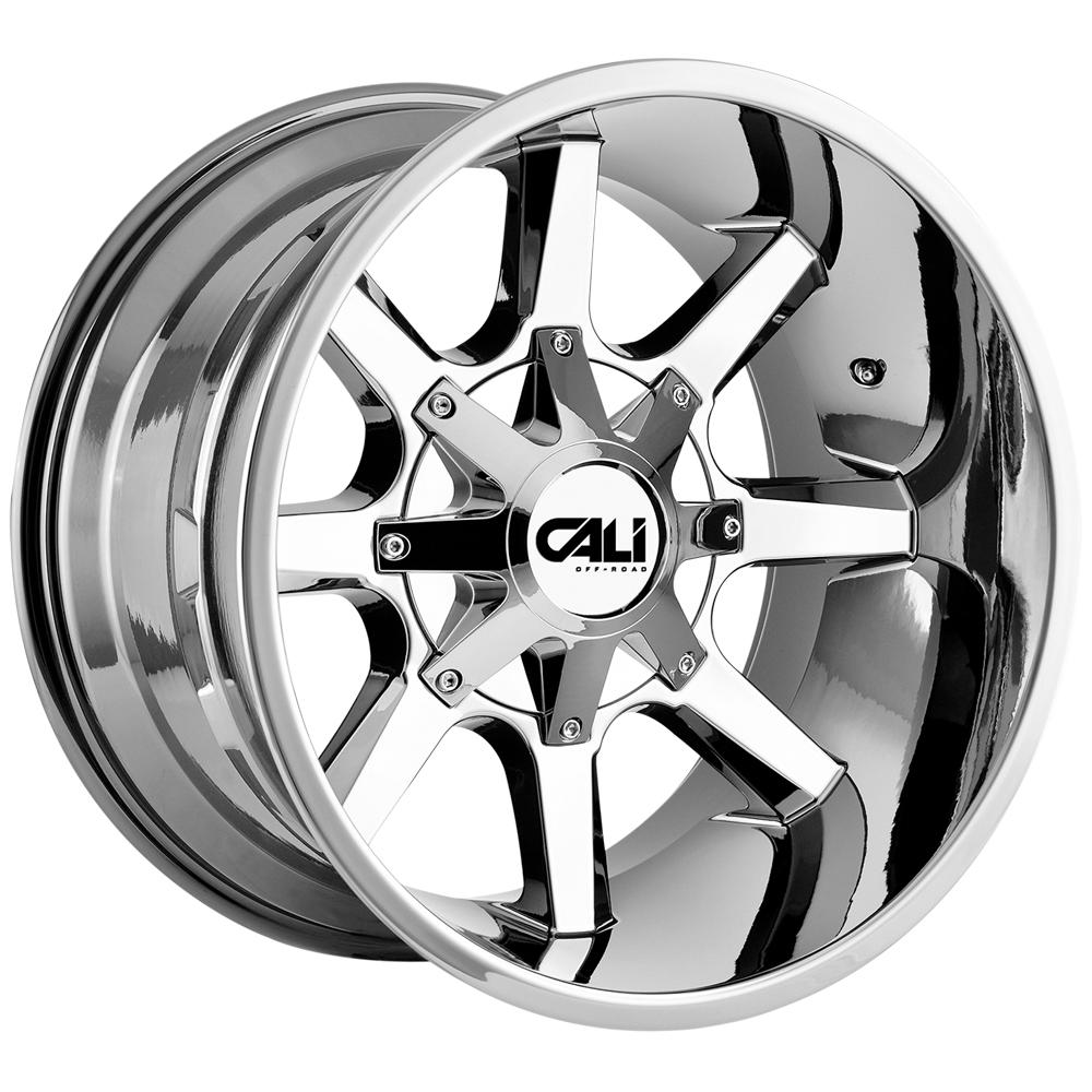 """4-Cali Off-Road 9100 Busted 20x12 8x6.5""""/8x170 -44mm Chrome Wheels Rims 20"""" Inch"""