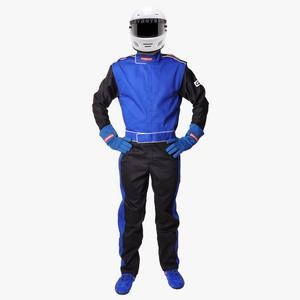 Pyrotech Racing Blue Large 1 Piece Sportsman Deluxe Driving Suit P/N 110403