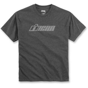 Icon Single Stack Tee-Shirt Charcoal (Gray, Small)