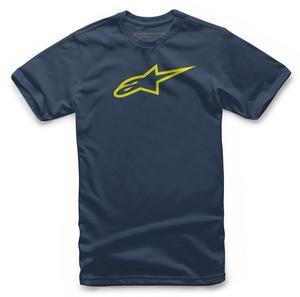 Alpinestars Adult Ageless Tee Shirt T-Shirt L Navy/Hi-Vis Yellow