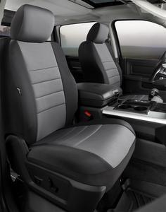 Fia NP98-35 GRAY Neo Neoprene Custom Fit Truck Seat Covers Fits Silverado 1500