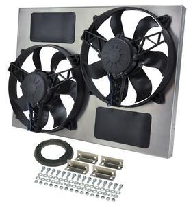 DERALE Dual 12 in 3750 CFM HO RAD Electric Cooling Fan P/N 16833