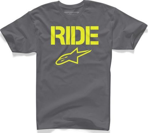 Alpinestars Ride Solid T-Shirt Charcoal (Gray, Small)