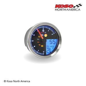 Koso TNT-B Silver RPM Speedometer Gauge For Yamaha Bolt BA051300