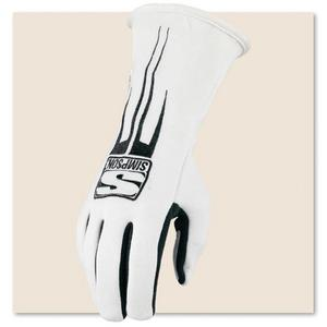 SIMPSON SAFETY Double Layer Large White Predator Driving Gloves P/N 20800LW
