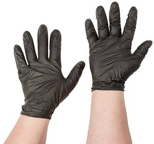 Atlantic Safety Products InTouch™ Powder Free Black Nitrile Exam Gloves, 2XL