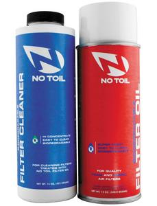 No Toil NT208 Aerosol Filter Maintenance Kit - 2 Pack - 12oz Oil, 16oz Cleaner