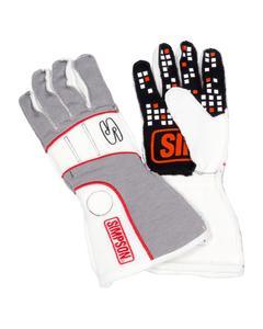 SIMPSON SAFETY VRMG-F Vortex Glove Medium Grey / White SFI