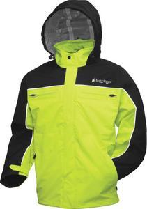 Frogg Toggs Pilot Frogg Cruiser Jacket Hi-Vis Green/Black (Black, Medium)