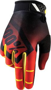 100% Ridefit Gloves (Pair) Corpo Red Adult Size SM