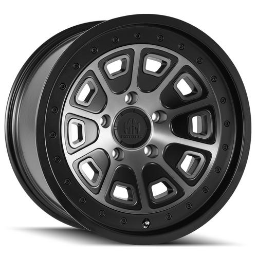 "4-Mayhem 8301 Flat Iron 20x9 5x150 +0mm Black/Machined/Tint Wheels Rims 20"" Inch"