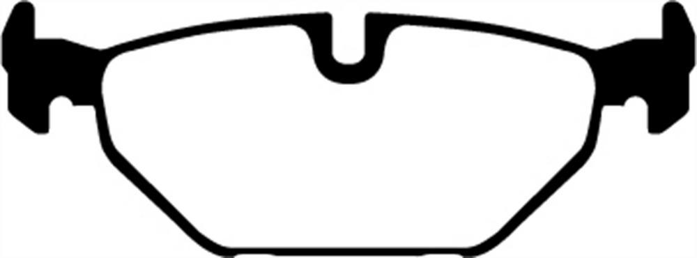 EBC Brakes DP31405C EBC Redstuff Ceramic Low Dust Brake Pads Fits 00-09 9-5