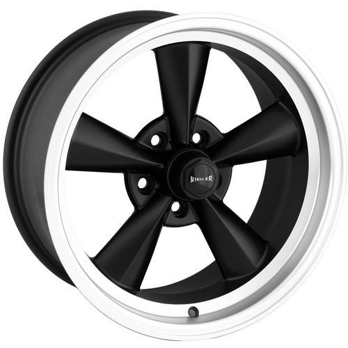"Ridler 675 17x7 5x4.5"" +0mm Matte Black Wheel Rim 17"" Inch"
