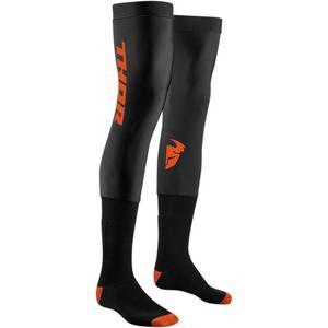 Thor Comp Socks Black/Red Orange (Black, Small - Medium)