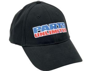 Parts Unlimited Embroidered Logo Hat (Black, Small - Medium)