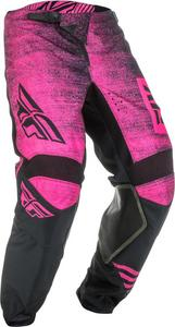 Fly Racing Kinetic Noiz Youth Pants Neon Pink/Black (Pink, 26)
