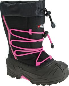 Baffin Inc Young Snogoose Girls Youth Boots Black/Hyper Berry (Black, 8)
