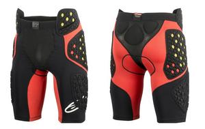 Alpinestars Adult Sequence Pro Padded Motorcycle Riding Shorts Black/Red 2XL