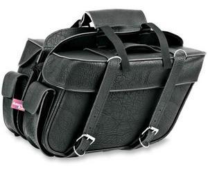 All American Rider 9698P Extra-Large Box-Style Detachable Slant Saddlebag - Plain