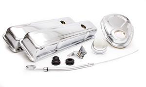RACING POWER CO Small Block Chevy Chrome Engine Dress Up Kit P/N R3023