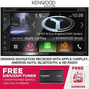 Kenwood eXcelon DNX694S  Navigation Receiver w/ SiriusXM Tuner