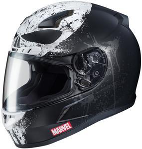 HJC CL-17 Marvel Punisher II Helmet Semi-Flat Black (MC-5SF) (Black, X-Small)