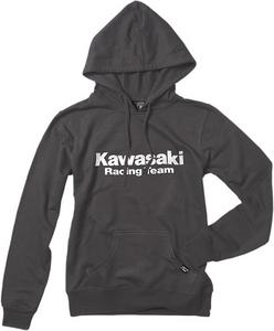 Factory Effex Licensed Kawasaki Pullover Hoody Charcoal Women's Size L