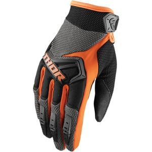 Thor Spectrum Gloves Charcoal/Orange (Gray, Large)