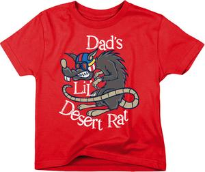 Smooth Industries Youth Dads Lil Desert Rat T-Shirt Red Kids M