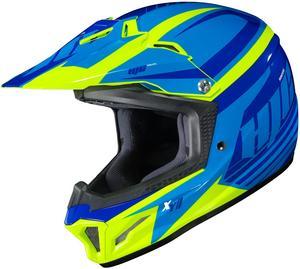 HJC CL-XY II Bator Youth Helmet Hi-Viz Yellow (MC-3H) (Blue, Small)
