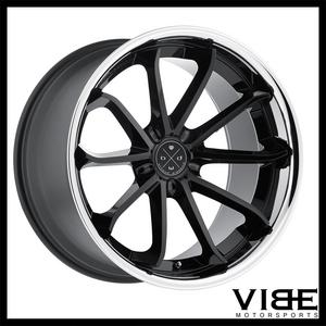 "22"" BLAQUE DIAMOND BD23 GLOSS BLACK CONCAVE WHEELS RIMS FITS BMW E63 E64 M6"