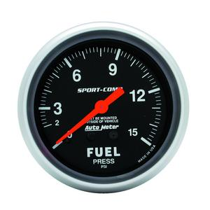 AutoMeter 3411 Sport-Comp Mechanical Fuel Pressure Gauge