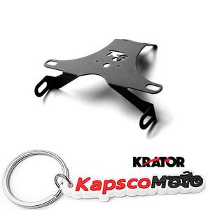 KapscoMoto Keychain Krator Black Universal Custom Motorcycle Inspection Tag Sticker Plate License Plate Tag Sticker Bracket Mount For Cruisers Metric Military Vehicles Harley Davidson Motorcycles