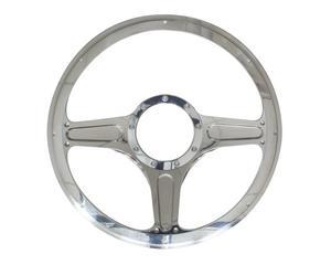 BILLET SPECIALTIES 14 in Polished Aluminum Street Lite Steering Wheel P/N 30103