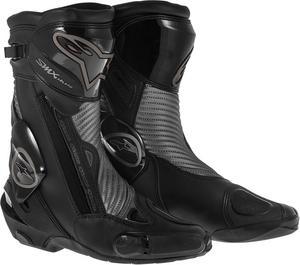 Alpinestars SMX Plus Black Shadow Street Motorcycle Boots Black Mens Size 3.5