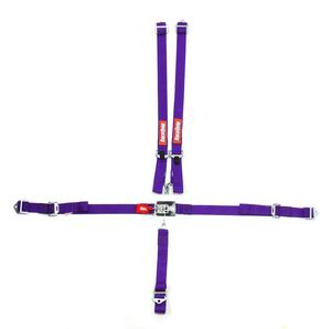RACEQUIP Purple Bolt-On/Wrap Around 5 Point Latch and Link Jr Harness P/N 709059
