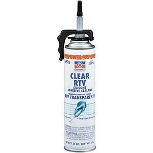 PowerBead Clear RTV Silicone Adhesive Sealant, 7.25 oz. (85913)