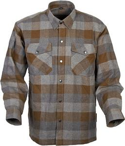 Scorpion Adult Covert Flannel Motorcycle Riding Shirt 3XL Tan/Brown
