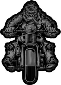 Lethal Threat LT30216 Gorilla Biker Embroidered Patch