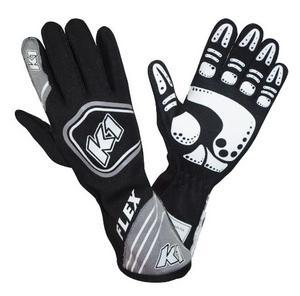 K1 RACEGEAR 23-FLX-NG-M Glove Flex Black Medium FIA / SFI 5
