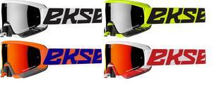 Eks Adult Gox Crossfade Motorcycle MX ATV Goggles White/ Black Silver Mirror