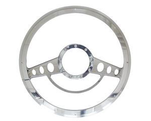 BILLET SPECIALTIES 14 in Polished Aluminum Classic Steering Wheel P/N 30725