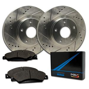 Max Brakes Front Performance Brake Kit  [ Premium Slotted Drilled Rotors + Metallic Pads ]  TA173331 Fits: Chevy 2014 Orlando 2014 - 2015 Volt | Buick 2016 Verano