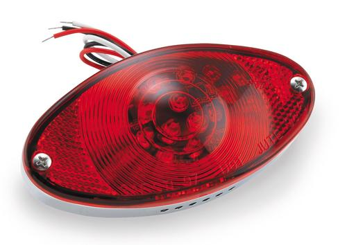 Bikers Choice 160664 Red Lens with Seal and Screws for LED Cat Eye Taillight