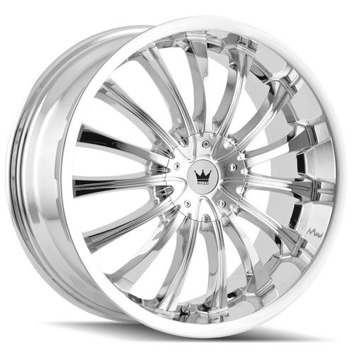"Mazzi 351 Hype 18x7.5 5x105/5x115 +40mm Chrome Wheel Rim 18"" Inch"