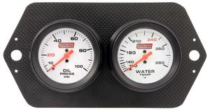 QUICKCAR RACING PRODUCTS White Face Gauge Panel Assembly P/N 61-7004