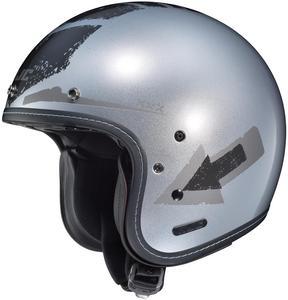 HJC IS-5 Arrow Helmet White (MC-10) (Silver, X-Large)